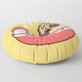 Chicken Noodle Puglie Soup Floor Pillow