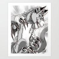 digimon Art Prints featuring + Digimon - Dorumon + by Xyeziaeos