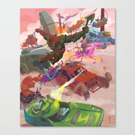 The Adventure Zone Pedals to the Metal Canvas Print