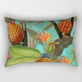 Vintage & Shabby Chic - Pineapple Tropical Garden Rectangular Pillow