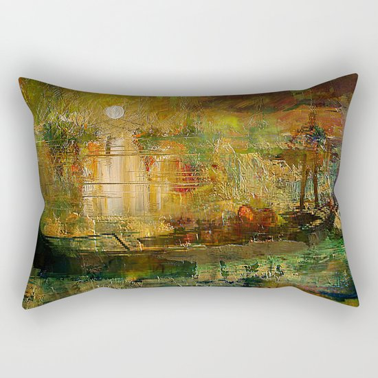 The gondolier of Brooklyn Rectangular Pillow