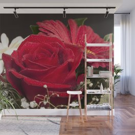 Red Bouquet Wall Mural