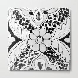 Black and White Talavera Ten Metal Print