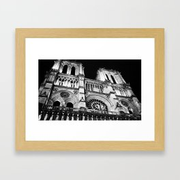 Night at Notre Dame Framed Art Print