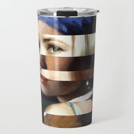 "Vermeer's ""Girl with a Pearl Earring"" & Grace Kelly Travel Mug"