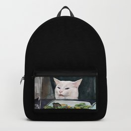 Woman Yelling at Cat Meme-2 Backpack