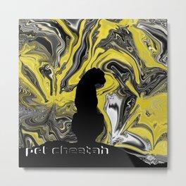 Pet Cheetah Metal Print