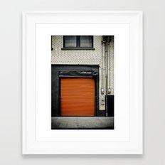 Red Metropolitan Garage Framed Art Print