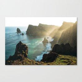 Ponta do Rosto, Madeira Canvas Print