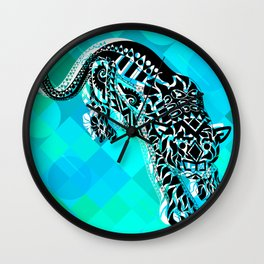 Cougar from the blue Sky ecopop Wall Clock
