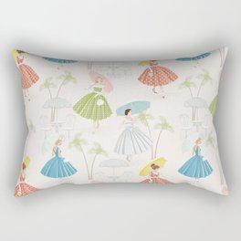 Women With Parasols Mid Century Summer Rectangular Pillow