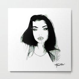 La Parisienne qui fume Metal Print