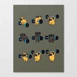 OLYMPIC LIFTING PUG Canvas Print