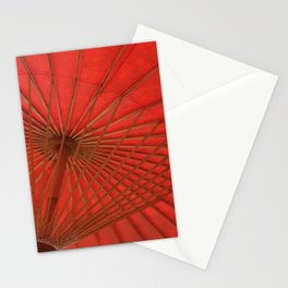 Big Asia Umbrella Red Colors Stationery Cards