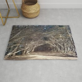 The Woods Hold Both the Light and the Darkness Rug