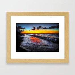 Sunset at Boracay Framed Art Print