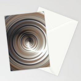 Cosmic Swirl: digital art with concentric circles Stationery Cards