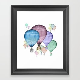 Balloons and animals! Framed Art Print