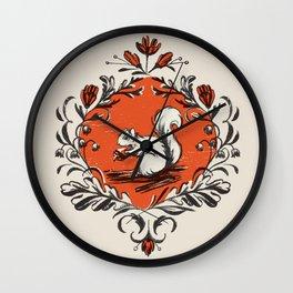 Fall Squirrel Wall Clock