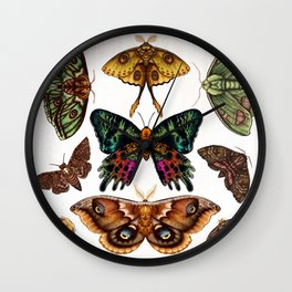 Moth Wings III Wall Clock