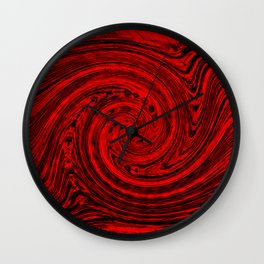 Hurricane wind in red and black Wall Clock