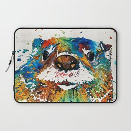 Otter Art - Ottertude - By Sharon Cummings Laptop Sleeve