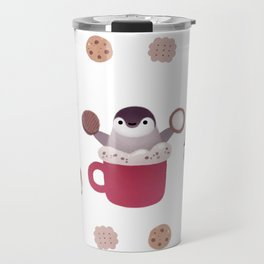 Cookie & cream & penguin Travel Mug