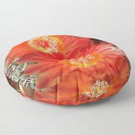 Barrel Cactus Blooms Floor Pillow