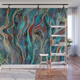 Colorful wavy abstraction Wall Mural
