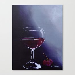 Wine-Ding Down Canvas Print