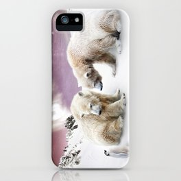 Polar Bears and Penguin iPhone Case