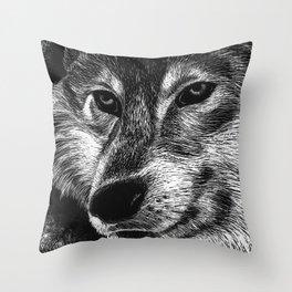 Mister Le Loup Throw Pillow