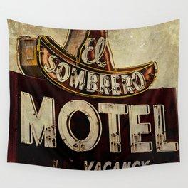 Vintage El Sombrero Motel Sign Wall Tapestry