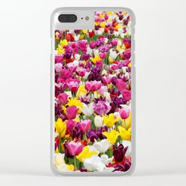Collection of different tulips in Holland Clear iPhone Case