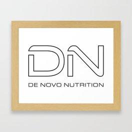 dn outline Framed Art Print