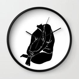 Nude figure illustration - Nina Silhouette Wall Clock