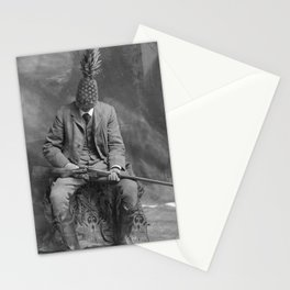 Mr. Pineapple with shotgun. 1904. Stationery Cards
