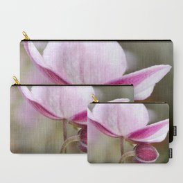 Japanese Anemone Bloom and Bud Carry-All Pouch