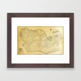 Map of Key West, Florida (1906) Framed Art Print