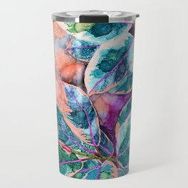 Rubber Tree - Alcohol Ink Travel Mug