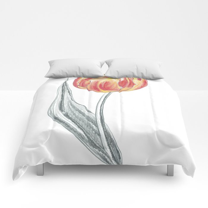 Tulip 03 Botanical Flower Comforters
