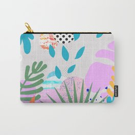 ABSTRACT TROPICAL JUNGLE PATTERN CLASHING Carry-All Pouch