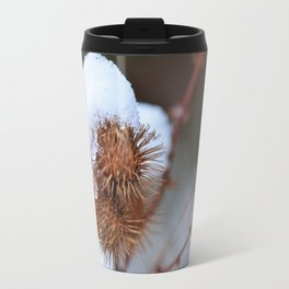 Snowy Burrs Travel Mug