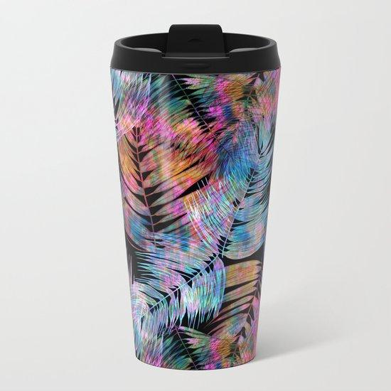 Waikiki Tropic {Black} Metal Travel Mug