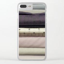 Bolt-Aubergine Clear iPhone Case