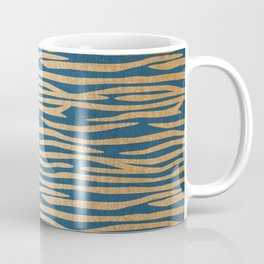 Zebra - Orange Sherbet Shimmer on Saltwater Taffy Teal Coffee Mug