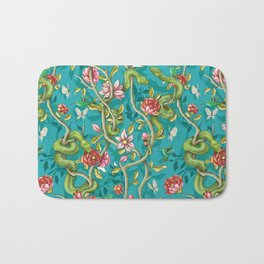Morning Song - turquoise Bath Mat