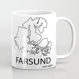 map of farsund Coffee Mug