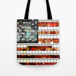 Retro Abstract American Flag Tote Bag