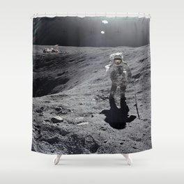 Apollo 16 - Plum Crater Shower Curtain